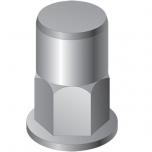 Клепальная гайка полушестигранная с цилиндрическим буртиком закрытая