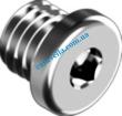 Din908 Заглушки резьбовые с буртиком и шестигранным углублением под ключ