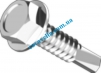Din7504K Саморез с шестигранной головкой, прессшайбой и сверлом