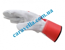Спилковые перчатки с манжетой, размер универсал
