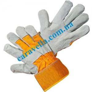 Перчатки рабочие спилковые комбинированные, размер 11