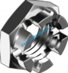 Гайка корончатая DIN937 М36х1.5 цинк мел.шаг