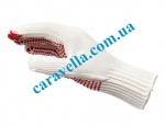 Вязаные перчатки с точечным виниловым покрытием